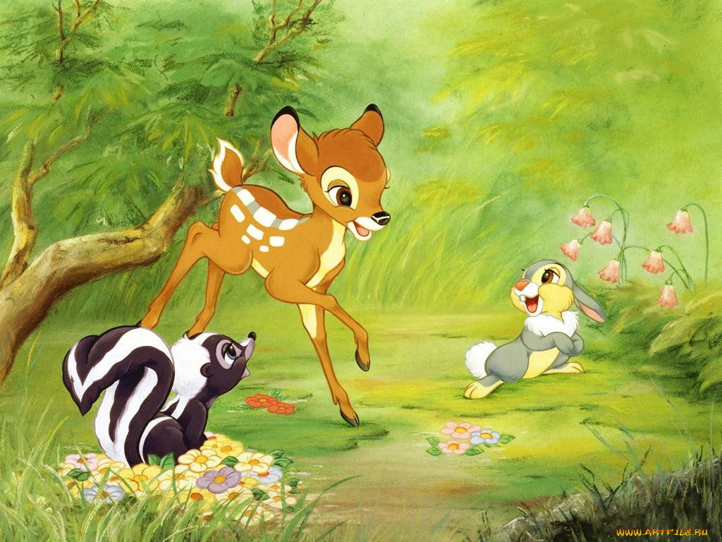 Животные из мультиков картинки из книги
